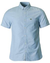 Lacoste L!ive - Classic Slim Fit Short Sleeved Shirt - Lyst