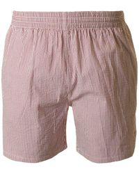 Farah - Munroe Seersucker Striped Swim Shorts - Lyst