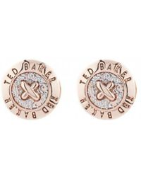 Ted Baker - Eisley Enamel Mini Button Earrings - Lyst