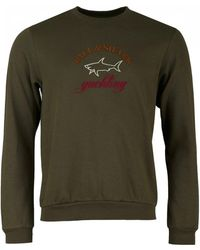 Paul & Shark - Embroidered Chest Logo Crew Neck Sweat - Lyst
