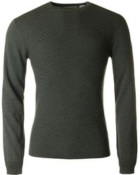 Original Penguin - Merino Basket Weave Crew Neck Knit - Lyst