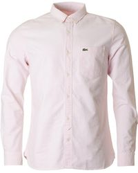 Lacoste L!ive - Classic Slim Fit Oxford Shirt - Lyst