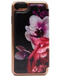 Ted Baker - Splendour Print Mirror I Phone 7-8 Case - Lyst