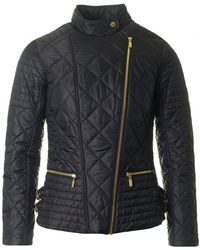 Barbour - Wyvis Quilted Biker Style Jacket - Lyst