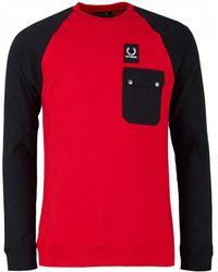 Fred Perry - Bicolour Pocket Sweatshirt - Lyst