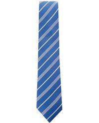 BOSS - Silk Woven Stripe Tie - Lyst
