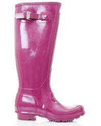 HUNTER - Original Tall Gloss Welly Boots - Lyst