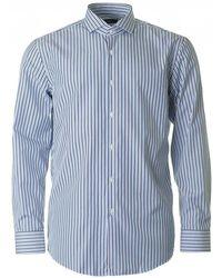BOSS Black - Jason Slim Fit Striped Shirt - Lyst
