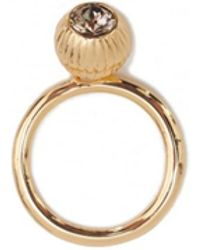 Ted Baker | Anessa Plisse Crystal Ball Ring | Lyst