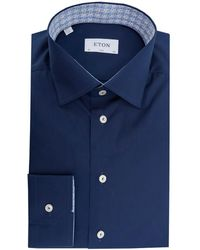 Eton of Sweden - Slim Fit Cut Away Collar Contrast Shirt - Lyst