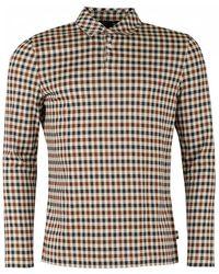 Aquascutum - York Club Check Long Sleeved Shirt - Lyst