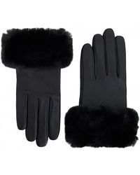 Ted Baker - Nadie Faux Fur Trim Gloves - Lyst