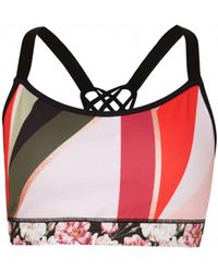 97a84b081c Ted Baker - Caulie Sahara Bloom Sports Bra - Lyst