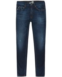 Moschino - Peace Logo Slim Fit Jeans - Lyst