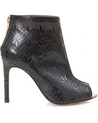 Ted Baker - Hauula Laser Cut Peep Toe Ankle Boots - Lyst
