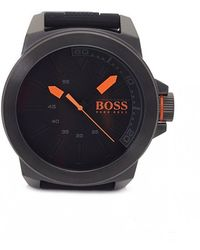 BOSS Orange - New York Black Silicone Strap Watch - Lyst