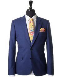 Paul Smith - Slim Wool Silk Micro Check Suit - Lyst