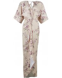 Hope and Ivy - Floral Maxi Kimono Style Dress - Lyst