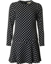 1a5aca2fe3162 Michael Kors - Polka Dot Fit And Flare Dress - Lyst