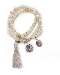 Olia Jewellery - Lottie Stretch Bracelet Trio - Lyst