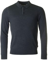 Michael Kors - Long Sleeved Knitted Polo - Lyst