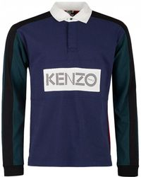 KENZO - Multicolour Rugby Polo - Lyst