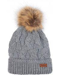 Barbour - Ashridge Beanie Pom Pom Hat - Lyst
