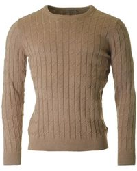 J.Lindeberg - Hugo Crew Neck Cable Knit - Lyst