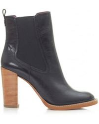 Moda In Pelle - Wooden High Heel Ankle Boots - Lyst