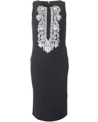 Forever Unique - Embellished Front Shift Dress - Lyst