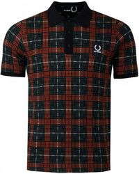 Fred Perry - Jacquard Knit Polo Shirt - Lyst