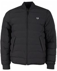 Fred Perry - Insulated Bomber Jacket - Lyst