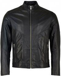 HUGO - Lemson Leather Jacket - Lyst
