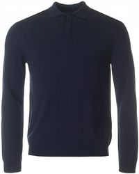 Armani - Long Sleeved Knitted Polo - Lyst