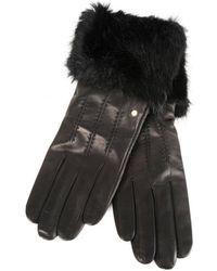 Ted Baker - Fur Trim Leather Gloves - Lyst