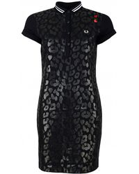 Fred Perry - X Amy Winehouse Foundation Leopard Print Dress - Lyst