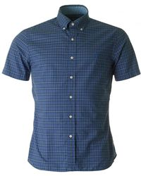 Polo Ralph Lauren - Short Sleeved Slim Small Checked Shirt - Lyst