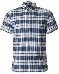 Lacoste - Short Sleeved Checked Shirt - Lyst
