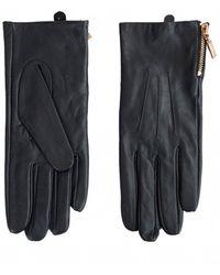 Barbour Garrow Leather Gloves - Black