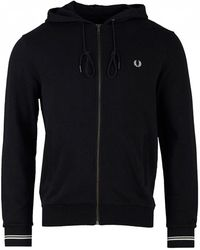 Fred Perry - Zip Through Hooded Sweat - Lyst