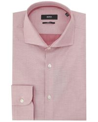 BOSS Black - Jery Slim Fit Contrast Trim Shirt - Lyst