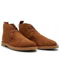 Farah - Iozza Suede Desert Boots - Lyst