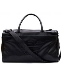 Armani Jeans - Embossed Eagle Weekend Bag - Lyst