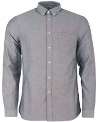 Lacoste - Long Sleeved Oxford Shirt - Lyst