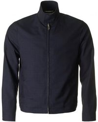 Paul Smith - Zipped Through Wool Blouson Jacket - Lyst