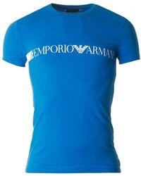 Emporio Armani - Centre Stripe Script Logo - Lyst