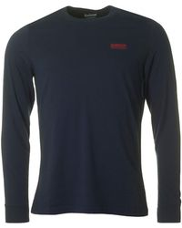 Barbour - Long Sleeved Logo Crew Neck - Lyst
