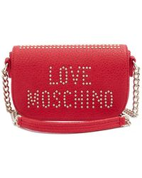 Moschino - Studded Logo Micro Crossbody Bag - Lyst
