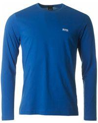 BOSS Athleisure - Togn Long Sleeve Crew Neck T Shirt - Lyst