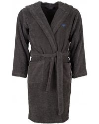 bb26a5afe3 Lyst - Emporio Armani Navy Hooded Towelling Robe in Blue for Men